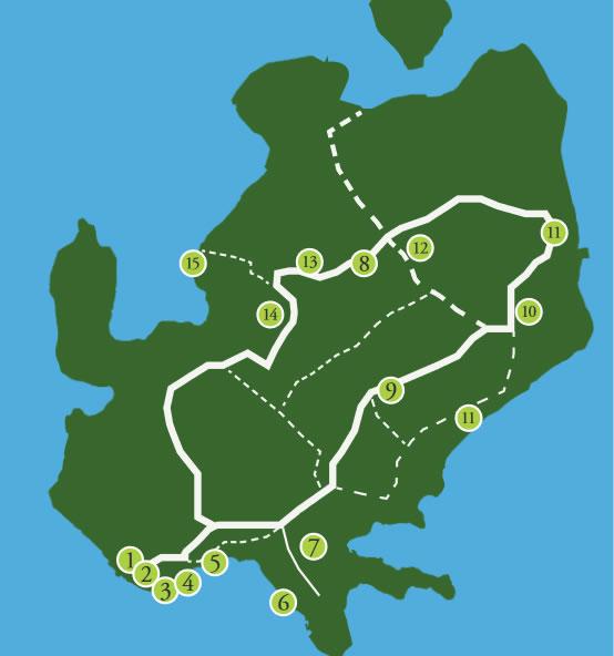Liikkuminen Saaressa Saaren Kartta Ja Nahtavyydet Tervetuloa
